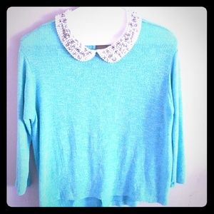 Top with beaded collar